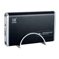 "SSK SHE001-F 3.5"" SATA External Enclosure Mobile Storage Solution/Hard Drive Case (Black)"