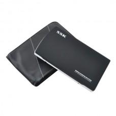 """Storage Solution Black SSK SHE046 USB2.0/eSATA 2.5"""" HDD Enclosure External Mobile"""