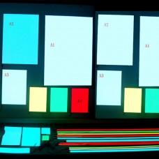 A3 300*420mm EL Panel Sheet Pad Back Light Display Light Up Backlight Set-Green