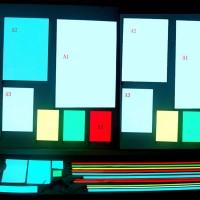 A3 300*420mm EL Panel Sheet Pad Back Light Display Light Up Backlight Set-Red