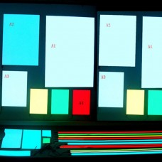 A3 300*420mm EL Panel Sheet Pad Back Light Display Light Up Backlight Set-Light Blue