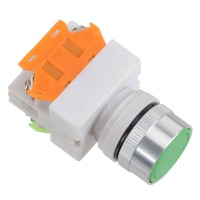 LAY7 (PBCY090)LAY37 Green Pushbutton Switch Push Button