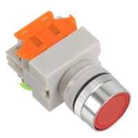 LAY7 (PBCY090)LAY37 Red Pushbutton Switch Flat Push Button