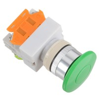 LAY7 (PBCY090)LAY37 Green Pushbutton Switch Mushroom Push Button