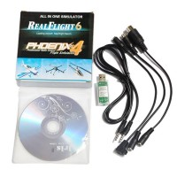 RC 12in1 USB Flight Simulator Cable for Phoenix 3.0 FMS G4 G4.5 G5 AeroFly XTR ESKY