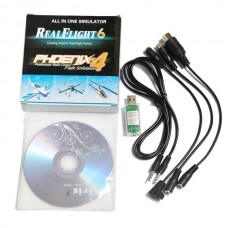 RC 12in1 USB Flight Simulator Cable for Phoenix 3.0 FMS G4 G4.5 G5 AeroFly XTR ESKY