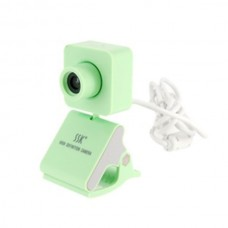 SSK SPC024 HD USB Webcam PC Camera USB2.0 Plug and Play-Green