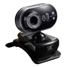 SSK SPC032 Webcam PC Camera with Micro and Speaker 1.3MP-Black