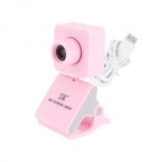 SSK SPC024 HD USB Webcam PC Camera USB2.0 Plug and Play-Pink