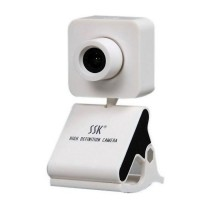SSK SPC024 HD USB Webcam PC Camera USB2.0 Plug and Play-White