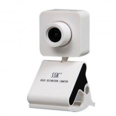 SSK SPC024 HD USB Webcam PC Camera USB2.0 Plug and Play-White