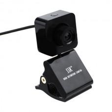SSK SPC024 HD USB Webcam PC Camera USB2.0 Plug and Play-Black