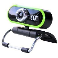 SSK SPC023-U USB Webcam HD PC Camera Computer Camera-Green
