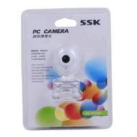 SSK DC-P330 USB PC Webcam USB 2.0 Driverless PC Camera Computer Camera-White