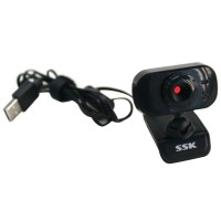 SSK DC-P335 USB PC Webcam Usb 2.0 Camera Driverless Computer Camera-Black