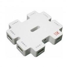 SSK SHU011 USB HUB High Speed 7-Port USB HUB with Adapter