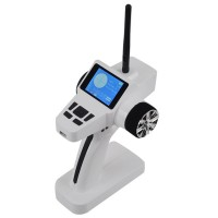 TG-04C 2.4Ghz 3-Channel Color LCD Transmitter and Receiver Set For RC Cars Toys White