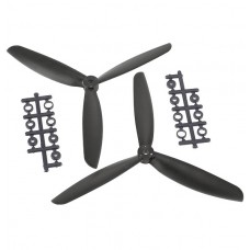 "7045 7x4.5"" 3-blade Counter Rotating Propeller CW CCW Blade-Black"