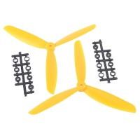 "8045 8x4.5"" 3-blade Counter Rotating Propeller CW CCW Blade-Yellow"