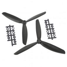 "8045 8x4.5"" 3-blade Counter Rotating Propeller CW CCW Blade-Black"