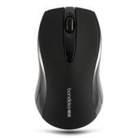 Bondidea T18 High Sensitivity 2.4Ghz Wireless Mouse AAA*2 Powered Black 1600DPI