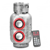 Gas Jar Style MP3 Player Speaker with Remote Controller