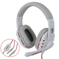 Somic G923 Vogue 3.5MM Headset Earphone Headphone with Microphone (white)
