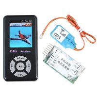 2.4G Transmitter Receiver Telemetry System GPS Speed Height Voltage Tempeture Monitor for RC Copter