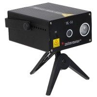 Mini Laser Show System Holographic Party Laser Star Projector Stage Lighting (Black)