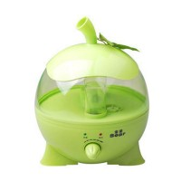 Household Soar HYD-6718 Cartoon Apple Fog Mist Humidifier for Car-Green