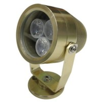 Golden 3W 3 LEDs Water LED Light Alumnium Inground Lighting
