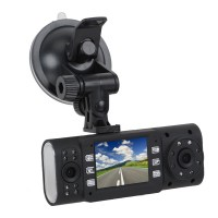 X4000 Car DVR 1080P HD Full Dual Camera Lens 16 IR LED Night Vision Vehicle Blackbox