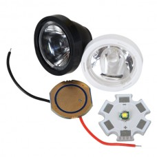 XPE/XPG Optical Glass+ Power Supply+ LED with Alumnium Board Set-White