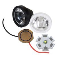XPE/XPG Optical Glass+ Power Supply+ LED with Alumnium Board Set-Black
