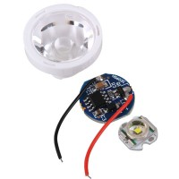 CREE X-RE LED Light with 11.6mm Baseboard + Power Supply+Optical Glass Lens