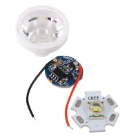 CREE X-RE LED Light with 20mm Baseboard+ Power Supply+Optical Glass Lens