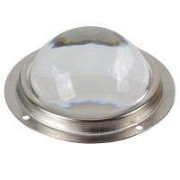78mm LED Waterproof Optical Convex Glass Lens with Silicone Seal and Holder