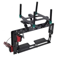 Carbon Fiber Camera Mount Controlable Tilt Unit with Shutter 2 Servos for LOTUSRC T580P+ Quadcopter