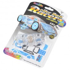 Coolkids Roller Ball Racers with Light-UP LED Marble-Blue