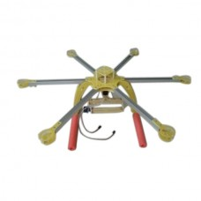 KK MK Multicopter Hex-Rotor HexCopter Epoxy Folding Frame 650mm with PTZ