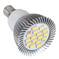 16 SMD LED Light Lamp AC220V Amusement Light LED Bulb E14 -White