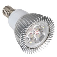 3W Spotlight 3LEDs E14 Base LED Light Lamp-White