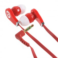 3.5mm Super Bass Stereo Earphones High Quality Headphone For lPOD lPHONE MP3 MP4 Red