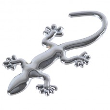 Small Wall Lizard King Shaped Alloy Car Sticker Car Decoration Sticker Silver