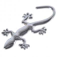 Small Wall Lizard King Shaped Alloy Car Sticker Car Decoration Sticker Silver