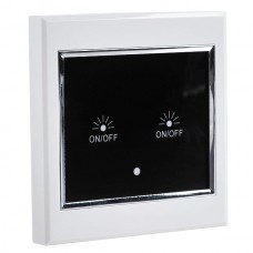 2-Way Wireless Remote Control LCD Touch Wall Switch 2CH