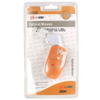 MC Saite Optical Mouse with Retractable Cable Orange