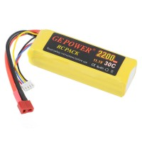 GE POWER 2200mAh 30C 11.1V Rechargeable Lithium Polymer Battery
