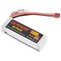 GE POWER 1800mAh 25C 11.1V Rechargeable Lithium Polymer Battery