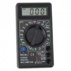 LCD Digital Voltmeter Ammeter Ohm Multimeter DT830D with Test Leads and Buzzer